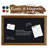 RHF Magnetic Chalkboard,Wall Mounted Chalkboard,Signboard, Rustic Chalkboard, Rustic Wood Frame Magnet Board, Chalk Board, Chalkboard, Decorative Chalkboard with Mounting Nail,Home Decor(24 x 36 inch)