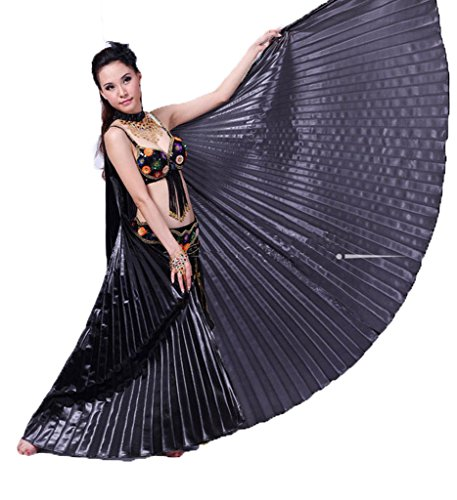 Belly Dance Costumes Professional (Hanerdun Women Professional Belly Dance Costume Angle Isis Wings With Stick)