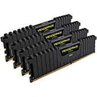 Corsair Vengeance LPX 16GB (4x4GB) DDR4 DRAM 2666MHz (PC4-21300) C16 Memory Kit - Black