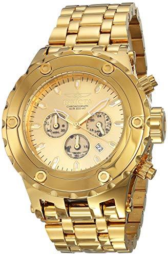 Invicta Men's 14506 Subaqua Reserve Analog Japan Quartz Chronograph Gold Watch