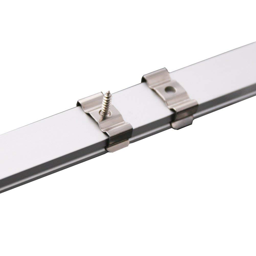 LED Aluminum Channel 40x3.3ft,LED Profile with Cover and Complete Mounting Accessories for Led Strip Light Installation by StarlandLed (Image #4)