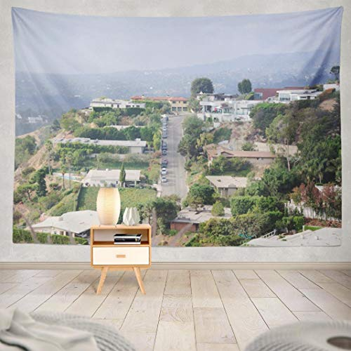 Hdmly West Tapestry Wall Hanging Decor, Decorative Wall Tapestry California Laurel Canyon Hills West Air 60