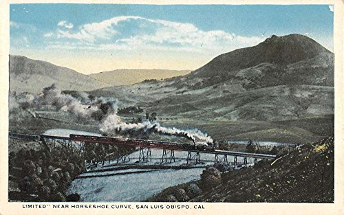 San Luis Obispo California Limited Horseshoe Curve Train Antique Postcard K92299 ()