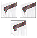 Beistle S50921AZ3 Printed Fiesta Table Runner 3 Piece, Multicolored