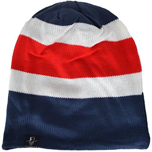 Men Oversize Skull Slouch Beanie Large Skullcap Knit Hat