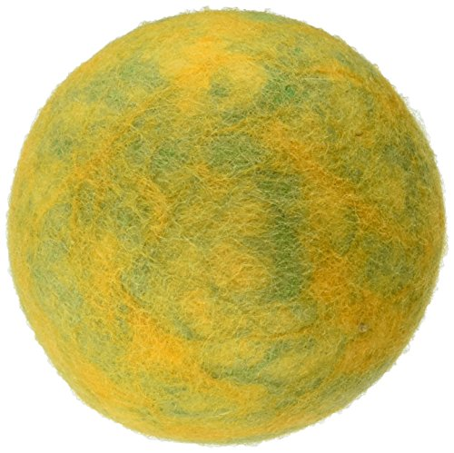 One Pet Planet 86012 3.5-Inch Wooly Fun Ball Dog Toy