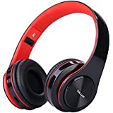 Daller Bluetooth Headphone Over Ear,Comfortable Noise Isolation Protein Earpads, Lightweight & Foldable Wired/Wireless Stereo Headset with mic for Cell Phone/TV/PC