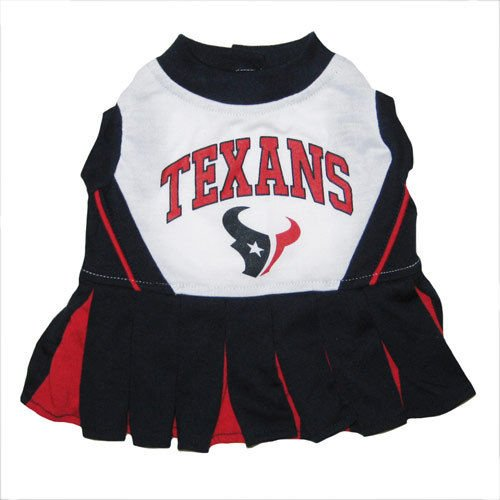 HOUSTON TEXANS CHEERLEADER DOG DRESS OUTFIT ALL SIZES LICENSED NFL (Small) (Nfl Dolphins Uniform Costume)