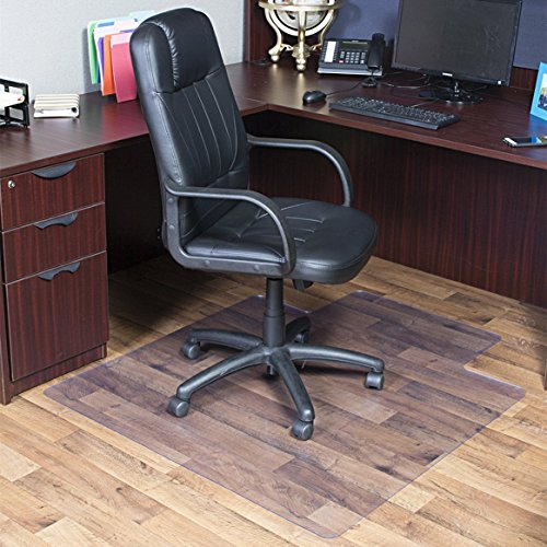 OstepDecor 30'' x 48'' PVC Chair Mat with Lip for Hard Floors 2mm Thick | Multi-purpose Floor Protector for Office and Home | Transparent - Multiple Sizes | BPA, Phthalate, Odor Free by OstepDecor