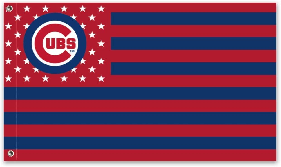 Stockdale Chicago Cubs Banner Garden Decorative Flag for Fall 3x5 Ft