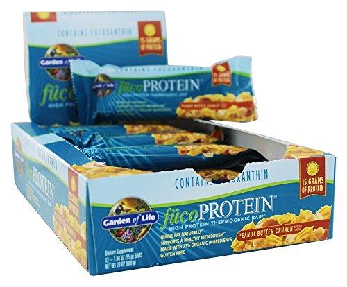 Garden of Life Fucoprotein Peanut Butter Crunch, Peanut Butter Crunch, 12 Bars Pack of 4