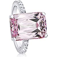 lertchai Women Fashion 925 Silver Pink Kunzite Ring Wedding Bridal Jewelry Size 6-10 (7)