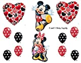 RED MICKEY AND MINNIE MOUSE DECORATIVE Hearts BIRTHDAY PARTY Balloons Decorations Supplies by Anagram