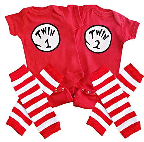 Perfect Pairz Twin 1 Twin 2 + Leggings USA Made Outfit]()