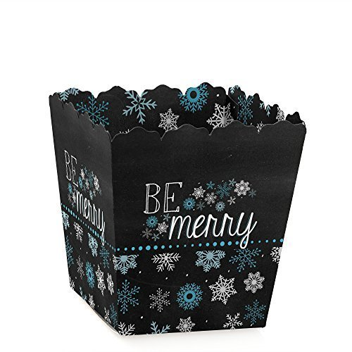 Be Merry Snowflake Holiday /& Merry Christmas Treat Candy Boxes Set of 12 Party Mini Favor Boxes