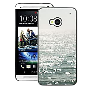 A-type Arte & diseño plástico duro Fundas Cover Cubre Hard Case Cover para HTC One M7 (Reflective Sea Sailing Sun Summer Water)