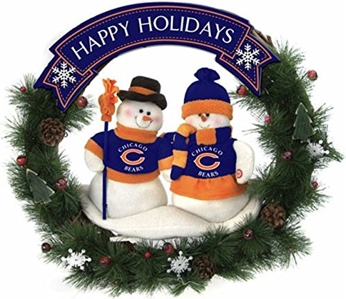 Chicago Bears Team Snowman Wreath