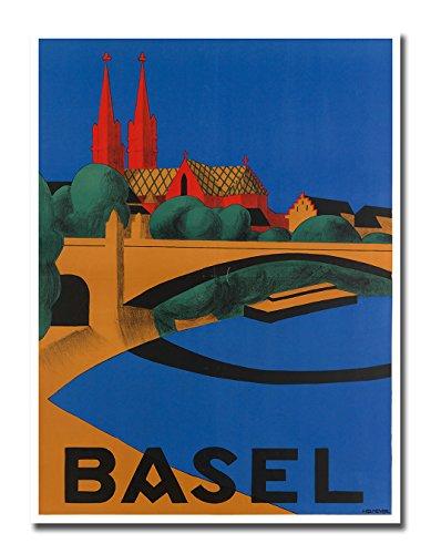 Basel Switzerland Poster Vintage Travel Art Retro Print