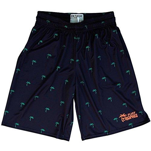 Flint Tropics Palms Basketball Shorts, black ,XXX-Large -