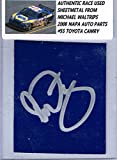 Michael Waltrip Signed Race Used Nascar Sheetmetal Coa - NASCAR Autographed Race Used Items