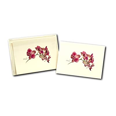 Earth Sky + Water - Orchid Notecard Set - 8 Blank Cards with Envelopes: Home & Kitchen