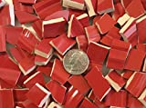 100+ Mosaic Tile Art Supply for Mosaics & Crafts ~ Christmas Red Tiles (T#406)