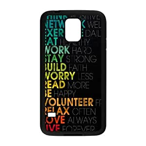 Samsung Galaxy S5 Cell Phone Case Black_Think Positively Wuegt
