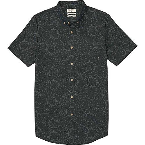 (Billabong Men's Sundays Mini Short Sleeve Shirt, Stealth, L)