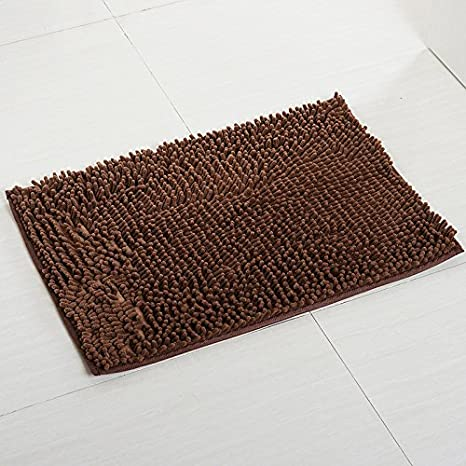 Non Slip Shag Bath Mat for Kitchen Bedroom Super Soft Microfiber Bathroom Rugs