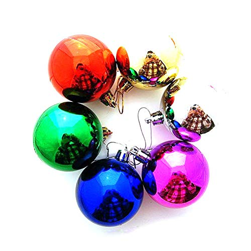 6Pcs Christmas New Year Gift Balls Baubles Party Xmas Tree Hanging Ornament Decor Pendant Accessories (Multicolor)