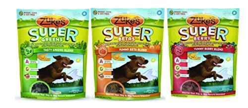 Zuke's Super Blend Dog Treats Mixed 6 oz x 3 packs – Gree...