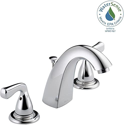 Delta Foundations 8 in. Widespread 2-Handle Bathroom Faucet in Chrome