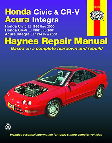 - Honda Civic, CR-V & Acura Integra 1994-2001