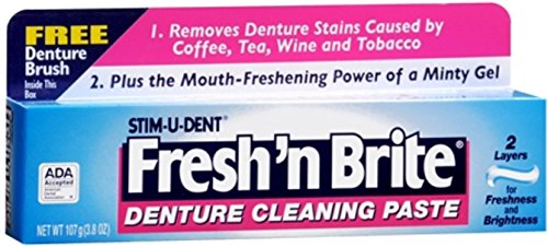 Fresh 'N Brite Denture Cleaning Paste, 3.80 Ounce (Pack o...