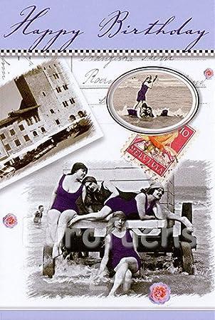 50// 100 Glückwunschkarten GEBURTSTAG Nostalgie mit Kuvert NEU hi 51-6420