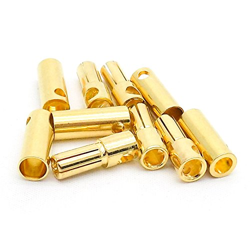 5 Pairs 5.5mm Bullet Connector Gold Plated 100A+ RC Drone Truck Plane Boat