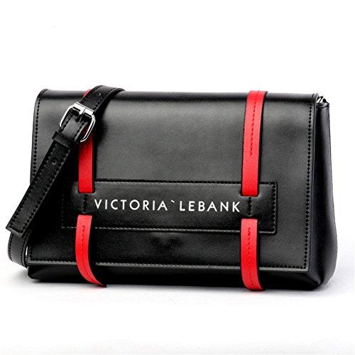 diseñador de Genuino de FONKIC Bolso Bolso Mujeres Las Cuero Mini BLACK Bolso Hombro del Black Cruzado del 5g0IHqwI