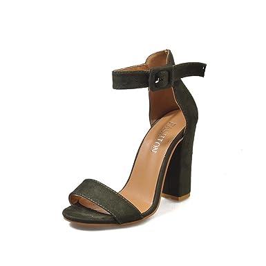 CLEARANCE SALE! MEIbax Mode Frauen Damen Sandalen Ankle High Heels Block Party Offene spitze Schuhe