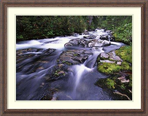 Framed Art Print 'Paradise River, Mt Rainier National Park, Washington' by Tim (Stream Mt Rainier National Park)