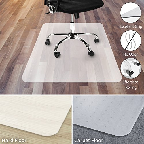 Office Chair Mat for Hardwood Floor | Opaque Office Floor Mat | BPA, Phthalate and Odor Free | Multiple Sizes available- 48