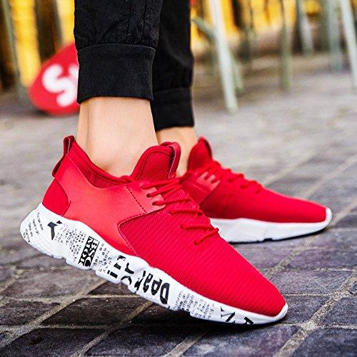 Herrenschuhe Rot Schuhe Sneaker Neu Gesellschaft Plate Laufschuhe Schuhe Net xiaolin wTqSxv6CU