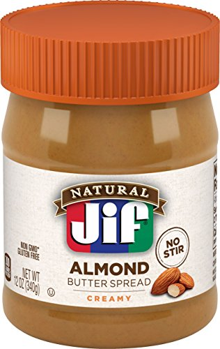Jif Natural Creamy Almond Butter Spread, 12 oz
