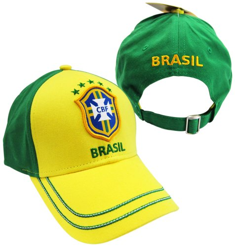 Rhinox Brasil 2014 World Cup Yellow/Green Adjustable Buckle Hat/Cap