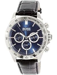 Hugo Boss Men's 1513176 Silver Leather Quartz Watch