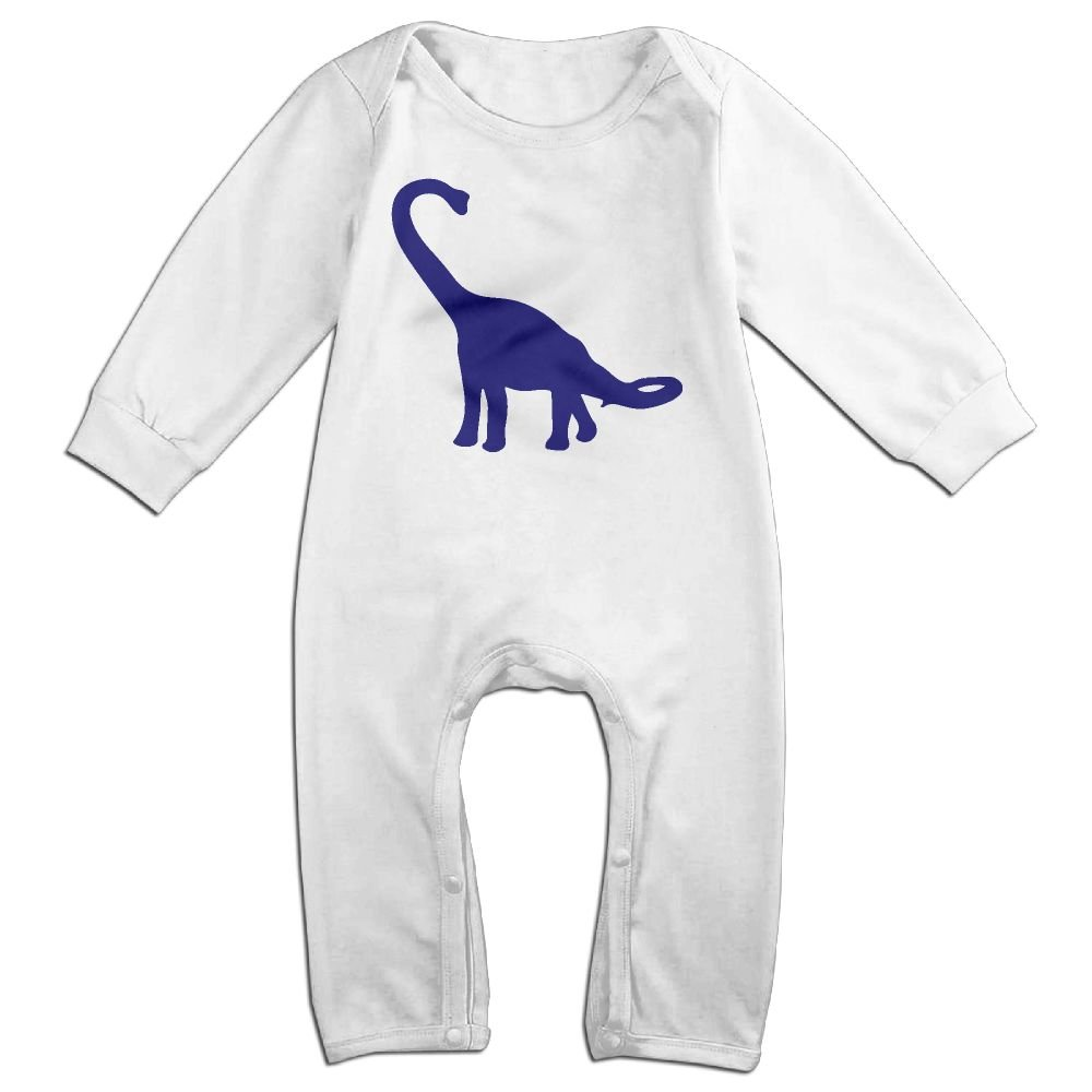Mri-le1 Baby Boy Girl Bodysuits Blue Dinosaur Infant Long Sleeve Romper Jumpsuit