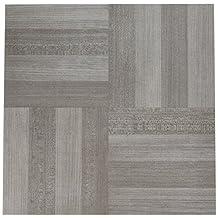 "Achim Home Furnishings FTVWD23120 Nexus Self Adhesive 20 Vinyl Floor Tiles, 12"" x 12"", Ash Grey Wood"