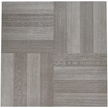 Achim Home Furnishings Ftvwd23120 Nexus Self Adhesive 20 Vinyl Floor Tiles 12 X 12 Ash Grey Wood Piece