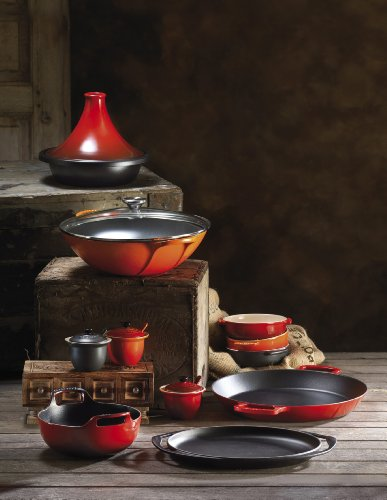 Le Creuset of America Enameled Cast Iron Paella Pan, 3 1/4-Quart, Cerise (Cherry Red) by Le Creuset (Image #2)