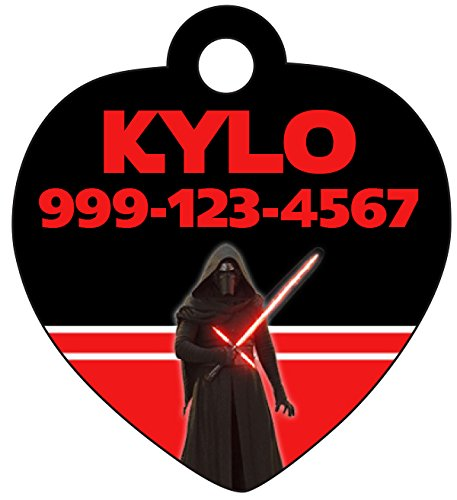 InstaPetTags Disney Star Wars Kylo Ren Pet Id Tag for Dogs & Cats Personalized w/Name & Number]()