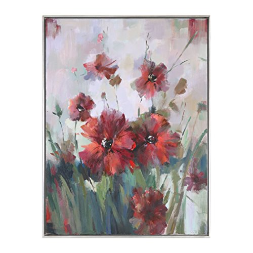 Uttermost Blooming Red Floral Wall Art (Uttermost Spring)